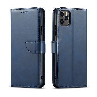 Flip folio skórzany futerał na iphone xs max niebieski pns-5218
