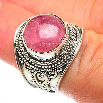 Rhodochrosite Ring Taille 6.5 (925 Argent Sterling) - Bijoux Boho Vintage faits à la main RING64302