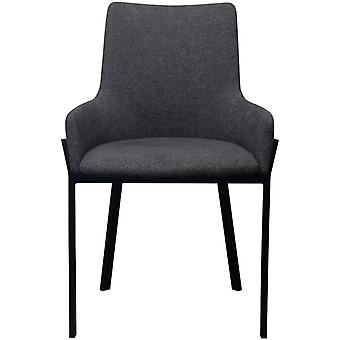 vidaXL sillas de comedor 4 piezas de tela gris oscuro