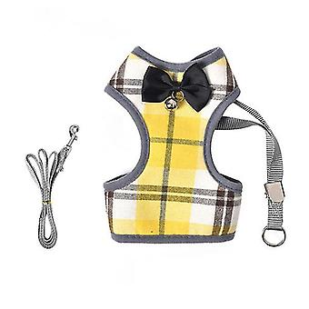L 30*42*29cm yellow pet traction rope small dogs and cats breathable vest chest back£¬pet collars & harnesses az16948