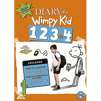 Diary Of A Wimpy Kid 1-4 DVD