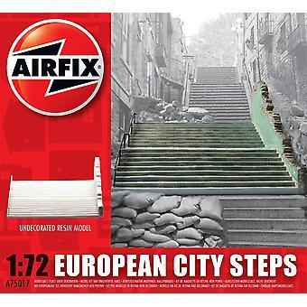ヨーロッパシティステップ樹脂台無し建物エアフィックスモデルキット