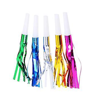 M kuten kuvassa 30kpl glitter hapsu metallinen blowouts meluntekijä pillit lasten lelu syntymäpäivä juhla suosii (rom väri) dt3701
