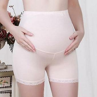 Gravide Kvinner Mageløft Shorts Anti-lys Tre-punkts Blonder Sikkerhet