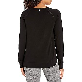 Brand - Core 10 Women's Soft French Terry Mesh Trim Long Sleeve Yoga Sweatshirt