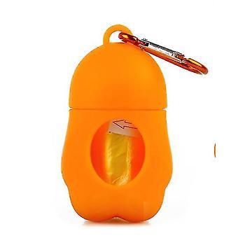 Hordozható kisállat szemeteszsák macska és kutya WC-szedő (Orange)
