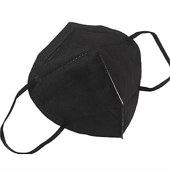 10 Pcs Ffp2 Face Mask Mask-liquid And Dust Proof Face Protection Black