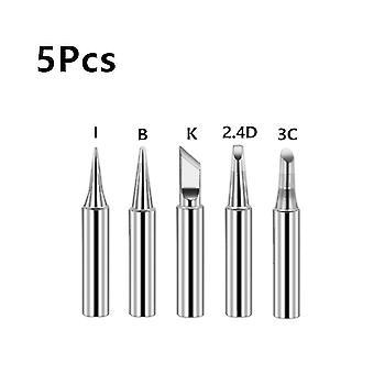 5Pcs i+b+k+2.4d+3c soldering iron pure copper 900m soldering iron head set inside hot bare copper electric soldering iron tip