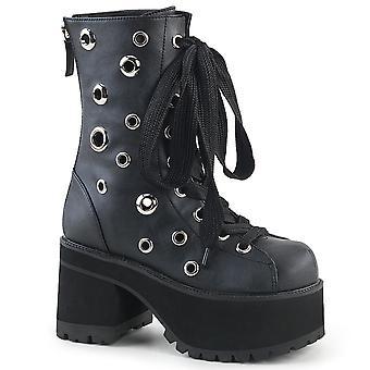 Demonia Women's Boots RANGER-310 Blk Vegan Leather