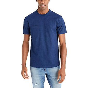 Goodthreads Hombres's camiseta de bolsillo Indigo Crewneck de manga corta, Dark Wash, X-Large