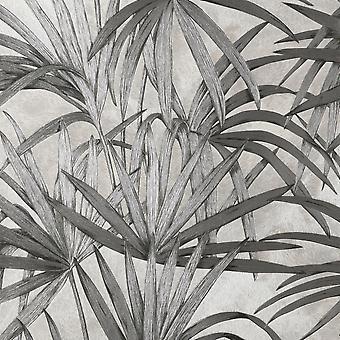 Fin dekor Vymura Milano Palm Leaf Grå tapeter M95625