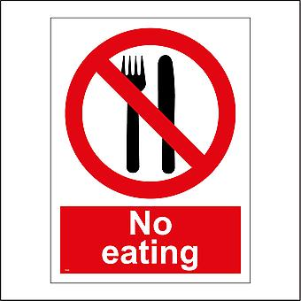 PR056 No Eating Sign with Circle Knife And Fork
