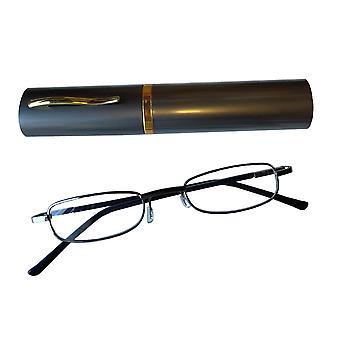 Duga Läsglasögon 1.0 med fodral grå