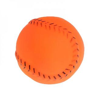 Pet Training Ball Rubber Baseball Interactive Funny Bite Chew Toys Cat Kitten Dog Puppy Products Play Squeaky Sound Elastic Soft Oral Cleaning Teeth E