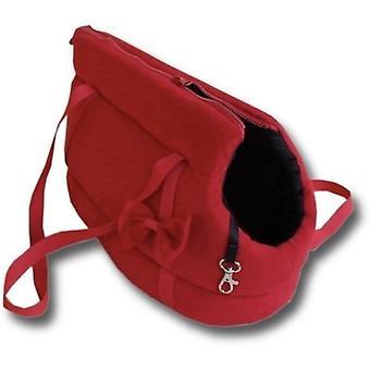 Geantă de transport pentru câini - câini mici - geantă de transport pentru câini - roșu - 36x19x23 cm - elegantă - sac de umăr