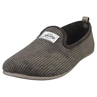 Mercredy Slipper Charcoal Mens Slippers Shoes in Charcoal