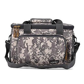 Men fishing bag canvas multifunctional outdoor waist shoulder bag fishing reel lures storage bag fishing gear 37*25*25cm