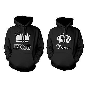 König und Königin Krone paar Hoodies niedlich passenden Outfit für Paare