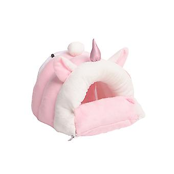 Small Pet Nest Rabbit Felt Tent Hamster Hideout House Guinea Pig Cage Chinchillas Bed Warm Small Pet Animals Bed