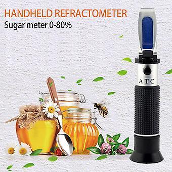 0-80٪ بريكس العسل المحمولة قياس دقيق مقياس الانكسار العسل المحمولة