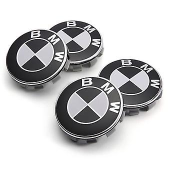 4 Bmw Logo Zwart-Wit 68mm Wiel Centrum Naaf Cover Rim Emblem Velgen Badge 36136783536