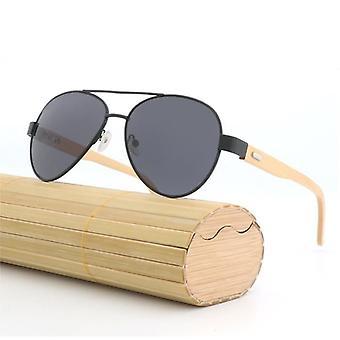 Män&s polariserade solglasögon Bambu TräBen