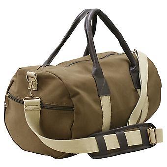 Lærred Duffle kunstlæder bære skulder Gym taske