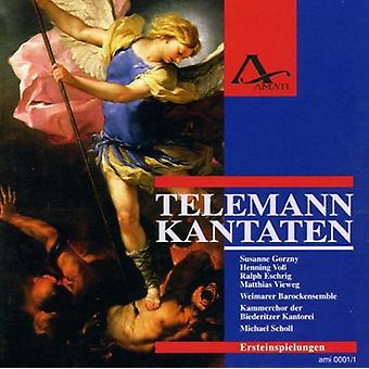 Telemann / Scholl / Vieweg - cantates [CD] USA import