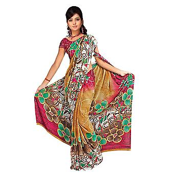 Dheeptha Georgette Printed Casual Saree Sari Bellydance fabric