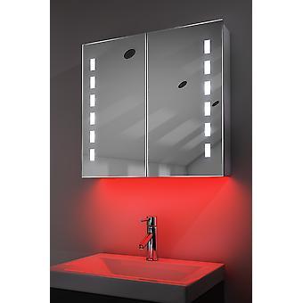 Demist Szafka z diodą LED pod oświetleniem, czujnikiem i golarką wewnętrzną k361w