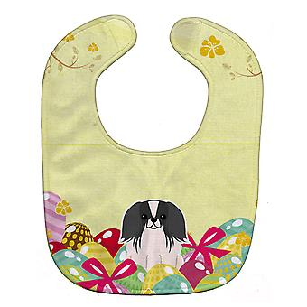 Carolines Treasures  BB6105BIB Easter Eggs Pekingnese Black White Baby Bib