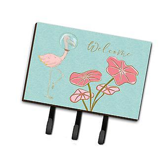 Carolines tesoros BB8532TH68 Flamingo Bienvenido correa o llavero