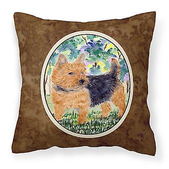 Carolines Treasures  SS8218PW1414 Norwich Terrier Decorative   Canvas Fabric Pil