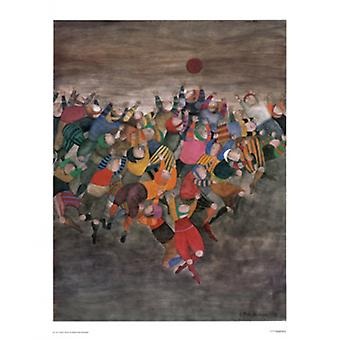 Un Seul Ballon plakat Print af Graciela Rodo Boulanger (27 x 34)