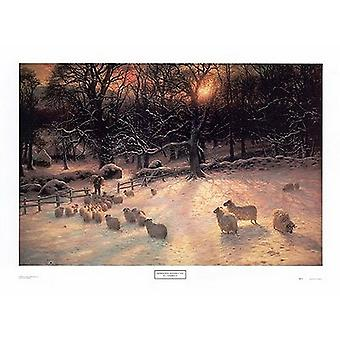 Forkorte vintrer dag Poster trykk av Joseph Farquharson (32 x 24)