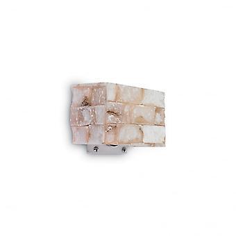 Ideal Lux Carrara Marmor Schatten und Chrom Wandbefestigung, G9