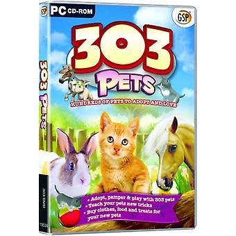303 huisdieren-inclusief Bunny Kitty en pony (PC CD)-nieuw