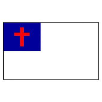 Christian Flag 5 ft x 3 ft met oogjes voor verkeerd-om