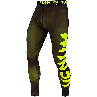 Venum Giant Dry Tech Fit Cut Compression Spats - Black/Neo Yellow