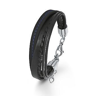 s.Oliver juvel gents armband svart läder SO1467/1 - 566636