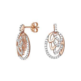 Orecchini ESPRIT donne in argento Rosé zirconi natura Glam ESER91936A000