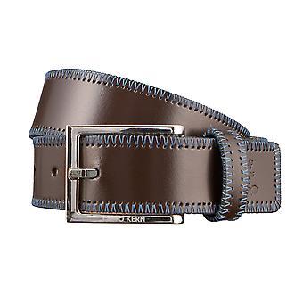 OTTO KERN belts men's belts leather belt dark brown 2999