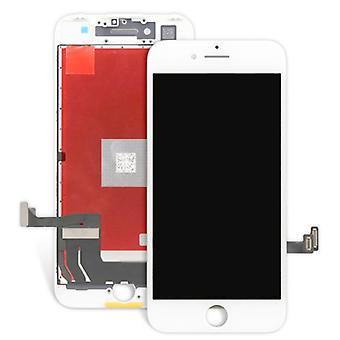 Näyttöyksikön LCD täydellinen kosketusnäyttö yhteensopiva Apple iPhone 7 4.7 valkoinen
