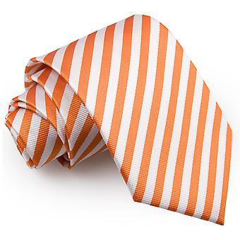 Weiße & Orange dünne Streifen klassische Krawatte