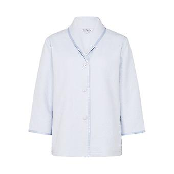 Slenderella BJ7300 Women's Blue Floral Robe Bedjacket