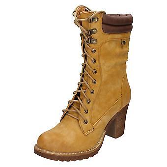 Spot de senhoras em meados bezerro botas F50323