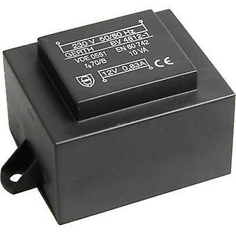 Gerth PT483002F PCB mount transformator 1 x 230 V 2 x 15 V AC 10 VA 333 mA