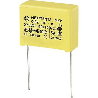 MKP-X2 1 pc(s) MKP-X2 suppression capacitor Radial lead 0.82 µF 275 V AC 10 % 22.5 mm (L x W x H) 26 x 11 x 20 mm
