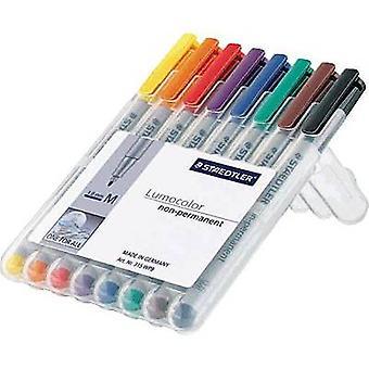 Staedtler OHP pen Lumocolor M niet-permanente 315 315 WP8 Blauw, Bruin, Geel, Groen, Oranje, Rood, Zwart, Violet