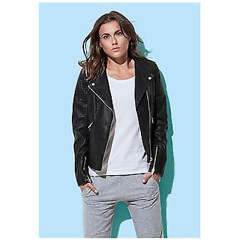 Stedman Womens/Ladies Active Biker Jacket